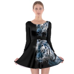 Ghost Tiger Long Sleeve Skater Dress by Brittlevirginclothing