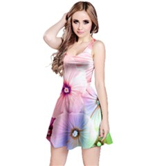 Rainbow Flower Reversible Sleeveless Dress by Brittlevirginclothing