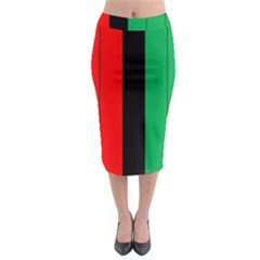 Kwanzaa Colors African American Red Black Green  Midi Pencil Skirt by yoursparklingshop