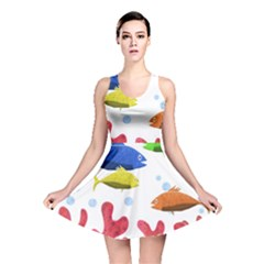 Corals And Fish Reversible Skater Dress