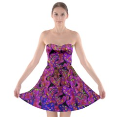 Purple Corals Strapless Bra Top Dress by Valentinaart
