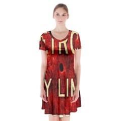 Dcllv7 Short Sleeve V Neck Flare Dress by DetroitCityLimitsLimited