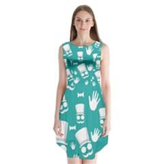 Gentleman Pattern Sleeveless Chiffon Dress   by Valentinaart