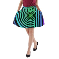 Art Of A Cat Popping A Balloon A Line Pocket Skirt by AnjaniArt