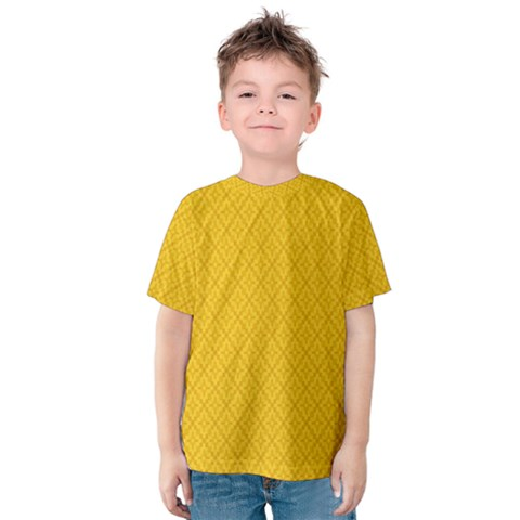 Yellow Flower Kids  Cotton Tee by AnjaniArt