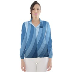 Blue Wave Wind Breaker (women) by AnjaniArt