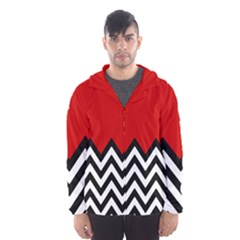 Chevron Red Hooded Wind Breaker (men)