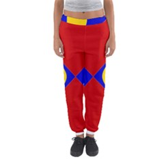 Concentric Hyperbolic Red Yellow Blue Women s Jogger Sweatpants by AnjaniArt