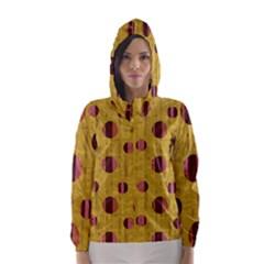 Dot Mustard Hooded Wind Breaker (women)