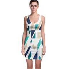Geometric Sleeveless Bodycon Dress by AnjaniArt