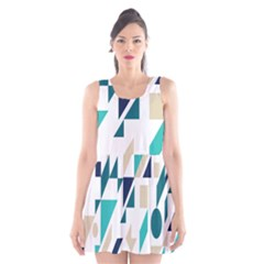 Geometric Scoop Neck Skater Dress by AnjaniArt