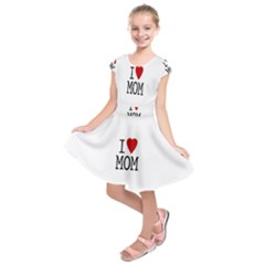 I Love Mom Kids  Short Sleeve Dress