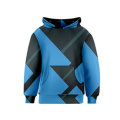 Lines Textur  Stripes Blue Kids  Pullover Hoodie by AnjaniArt