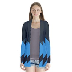 Lines Textur  Stripes Blue Cardigans by AnjaniArt