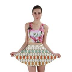 Lab Pattern Hexagon Multicolor Mini Skirt by AnjaniArt