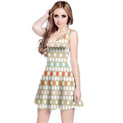 Lab Pattern Hexagon Multicolor Reversible Sleeveless Dress
