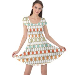 Lab Pattern Hexagon Multicolor Cap Sleeve Dresses by AnjaniArt