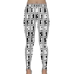 Line Black Classic Yoga Leggings by AnjaniArt