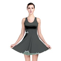 Rain Cloudy Sky Reversible Skater Dress