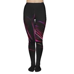 Purple Flower Pattern Design Abstract Background Women s Tights