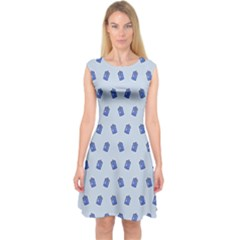 Tumblr Cute Tardis Capsleeve Midi Dress