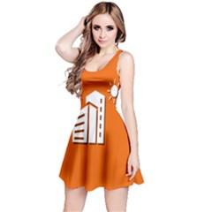 Building Orange Sun Copy Reversible Sleeveless Dress