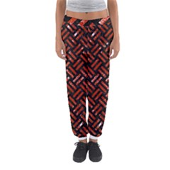 Woven2 Black Marble & Red Marble Women s Jogger Sweatpants by trendistuff