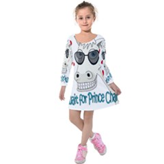 Don t Wait For Prince Sharming Kids  Long Sleeve Velvet Dress by Valentinaart