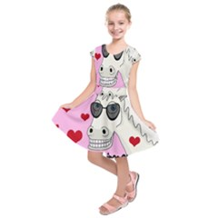 Don t Wait For Prince Charming Kids  Short Sleeve Dress by Valentinaart