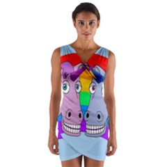 Unicorn Love Wrap Front Bodycon Dress by Valentinaart