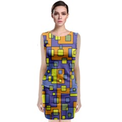 Square Background Background Texture Classic Sleeveless Midi Dress by Amaryn4rt