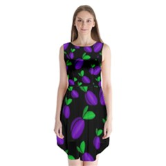 Plums Pattern Sleeveless Chiffon Dress   by Valentinaart
