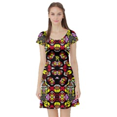 Queen Design 456 Short Sleeve Skater Dress by MRTACPANS