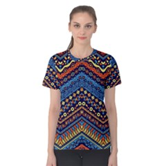 Cute Hand Drawn Ethnic Pattern Women s Cotton Tee