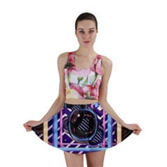 Abstract Sphere Room 3d Design Mini Skirt by Amaryn4rt