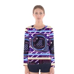 Abstract Sphere Room 3d Design Women s Long Sleeve Tee by Amaryn4rt