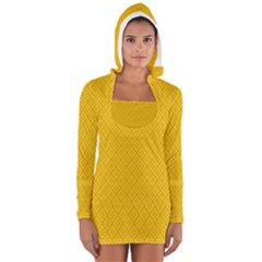 Yellow Flower Women s Long Sleeve Hooded T Shirt by Jojostore