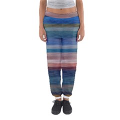 Background Horizontal Lines Women s Jogger Sweatpants by Amaryn4rt