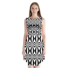 Background Sleeveless Chiffon Dress   by Jojostore