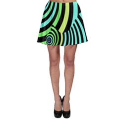 Optical Illusions Checkered Basic Optical Bending Pictures Cat Skater Skirt by Jojostore