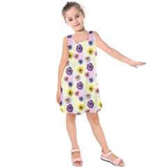 Monster Eye Flower Kids  Sleeveless Dress by Jojostore