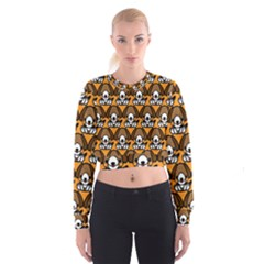 Sitbeagle Dog Orange Women s Cropped Sweatshirt by Jojostore
