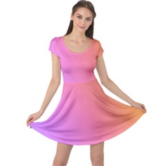 Blank Desk Pink Yellow Purple Cap Sleeve Dresses by Jojostore