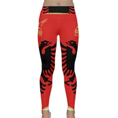 Coat Of Arms Of Albania Classic Yoga Leggings