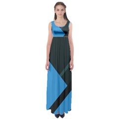 Lines Textur  Stripes Blue Empire Waist Maxi Dress by Jojostore