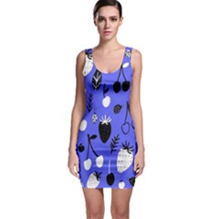 Fruit Strobery Leci Purple Sleeveless Bodycon Dress by Jojostore