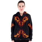 Double Dragon Women s Zipper Hoodie