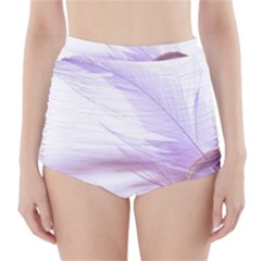 Ring Feather Marriage Pink Gold High-waisted Bikini Bottoms by Amaryn4rt