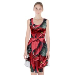 Star Of Bethlehem Star Red Racerback Midi Dress by Amaryn4rt