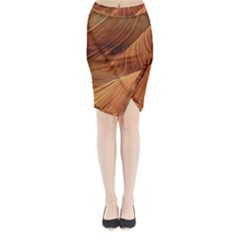 Sandstone The Wave Rock Nature Red Sand Midi Wrap Pencil Skirt by Amaryn4rt